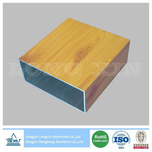 Wooden Transfer Print Aluminium Square Tube