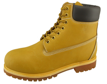 0121 nubuck leather pu rubber sole safety boots
