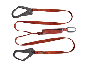 Work safety harness and rope lanyard