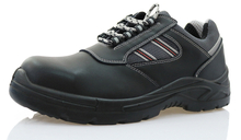 Low ankle black steel industrial safety shoes