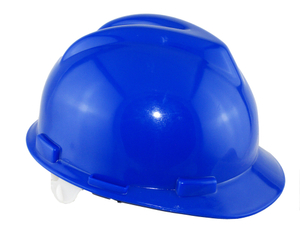 Blue color PE materials v type industrial safety helmet
