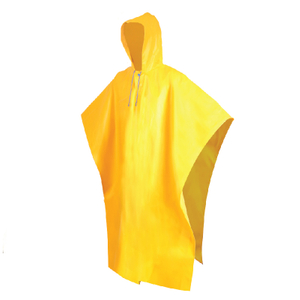 yellow pvc rain coat poncho for adults