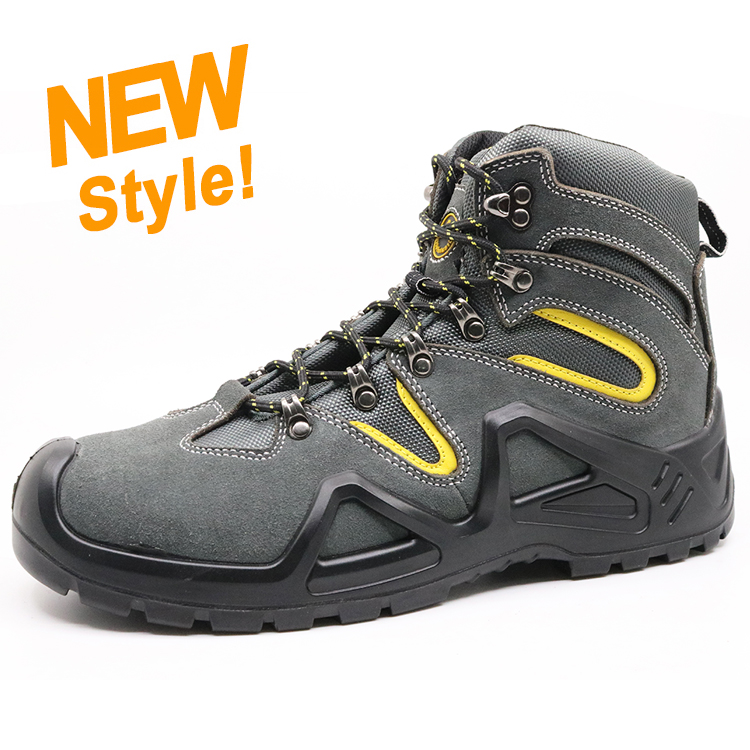 ENS021 fashionable antistatic suede leather hiking safety shoe fiber toe