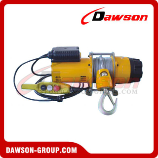 200kg 250kg 300kg Single Phase AC Electric Windlass with Steel Wire Rope, Light Duty Electric Lifting Winches