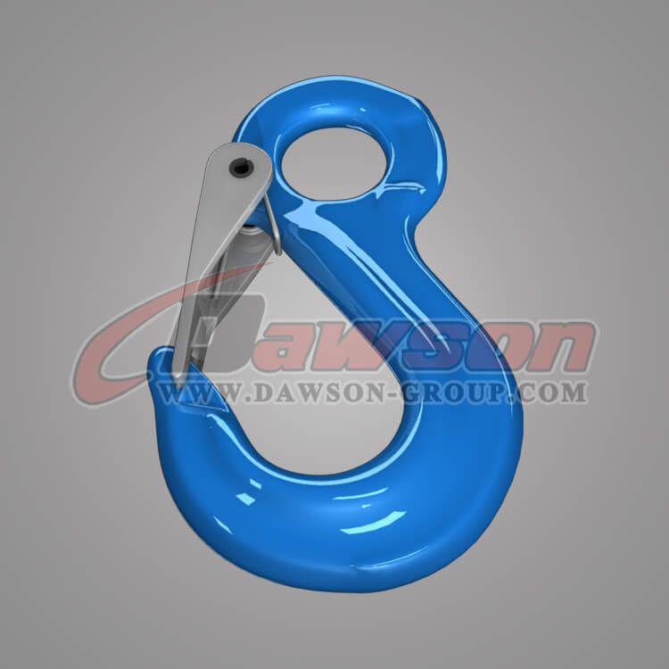 Grade 100 Eye Sling Hook with Latch for Lifting Slings, G100 Forged Alloy Eye Sling Hook for Chains - China Manufacturer, Supplier