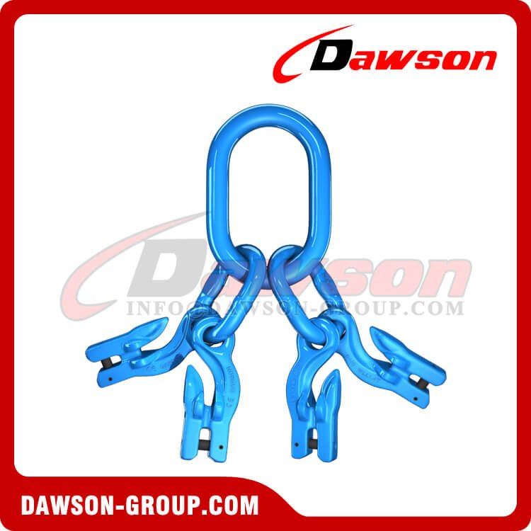 G100 Master Link Assembly + G100 Eye Grab Hook with Clevis Attachment×4 - Dawson Group Ltd. - China Manufacturer, Supplier, Exporter