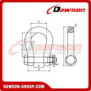 DS868 Forged Super Alloy Steel Bow Shackle for Lifting