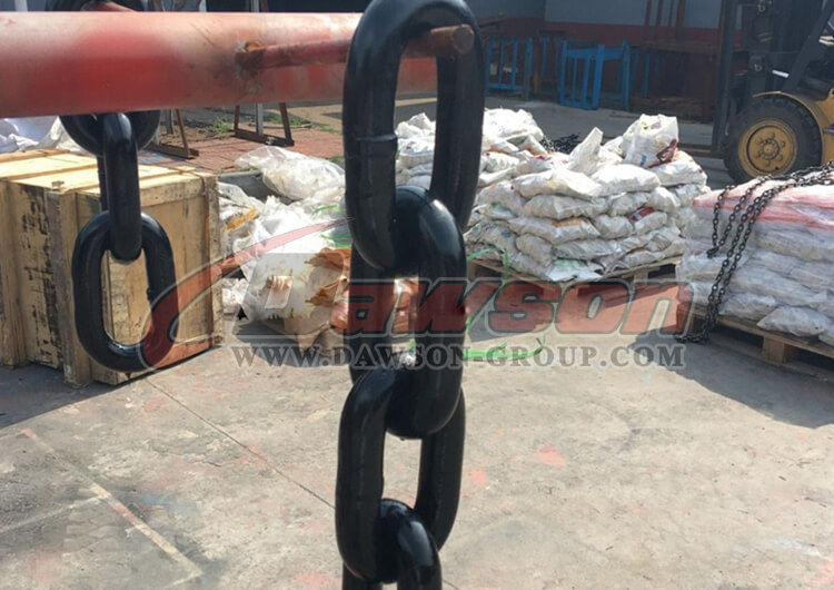G100-High-Quality-Welded-Painted-Steel-Mining-Chain-China Supplier