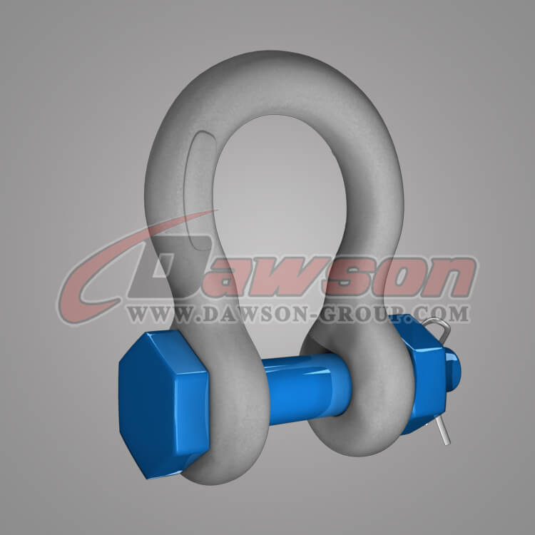 Dawson Brand Hot Dip Galvanized US Type Bow Shackle with Safety Pin - China Manufacturer Factory