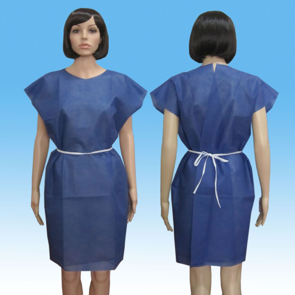 Adults Patient Gown with Short Sleeves