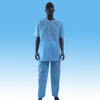 PP scrub suit with V-collar, disposable patient scrub suit