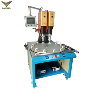 Double Heads Ultrasonic Welding Machine Automatic Rotary Table Ultrasonic Welder for Sale