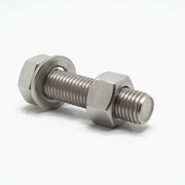 stainless steel hex bolt and nut