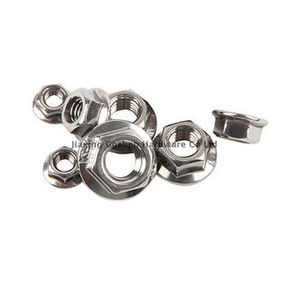 IFI145-2002 stainless steel American hexagon nuts with flange