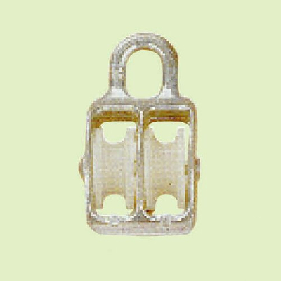 PULLEY. MATERIAL OF BODY: ZINCALLOY; MATERIAL OF WHEEL :NYLON