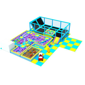 Ocean Theme Indoor Play Center Ball Pit with Trampoline