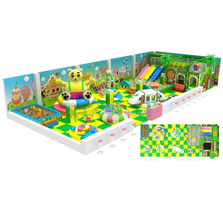 Forest Theme Indoor Soft Kids Play Equipment with Electric Toys