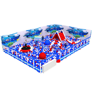 Ocean Theme Soft Children Indoor Playground with Ball Pit