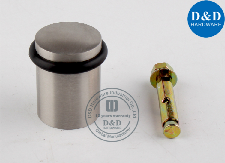 Stainless Steel Circular Heavy Duty Door Stopper For Glass Door Dd