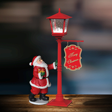 music christmas light mini snowing vertical streetlamp