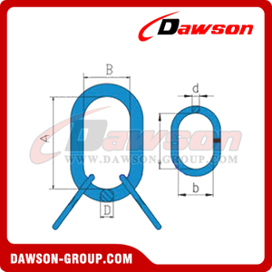 DS096 G80 Welded Master Link Assembly With Flat for Steel Wire Rope Slings / Chain Slings