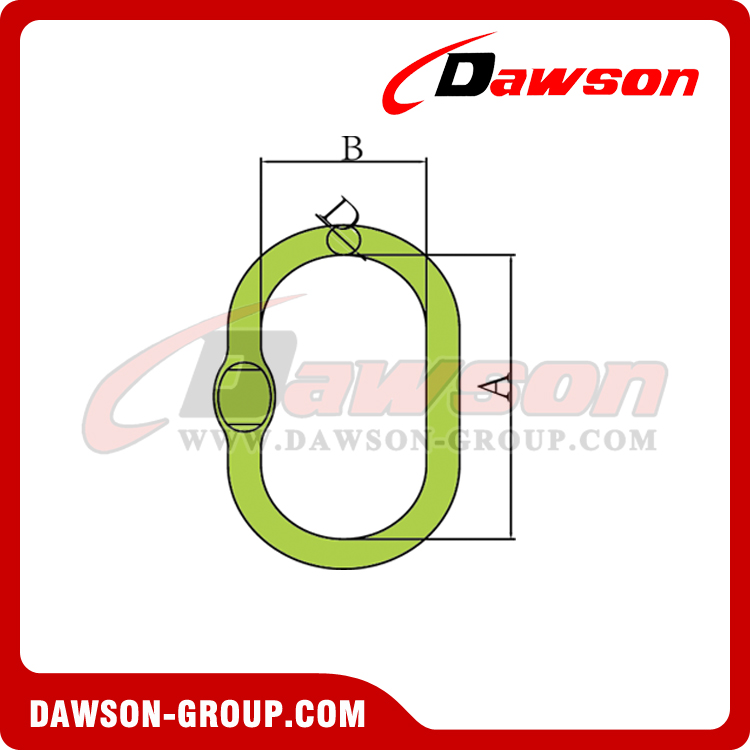 DS1013 G100 Forged Master Link with Flat - DAWSON GROUP LTD. - CHINA MANUFACTURER, SUPPLIER, FACTORY