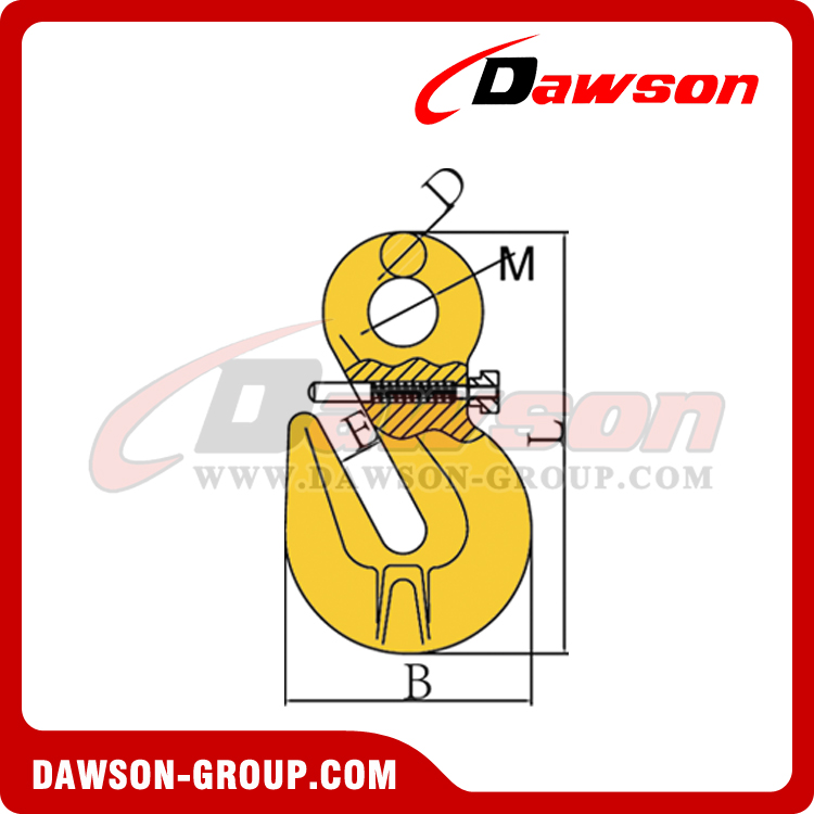 DS317 EYE SHORTENING GRAB HOOK WITH SAFETY PIN DAWSON-GROUP LTD. - CHINA SUPPLIER