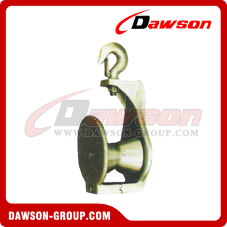 DS-B183 D Snatch Block with Hook D Type