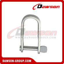 Stainless Steel Plate Shackle with Lock Pin