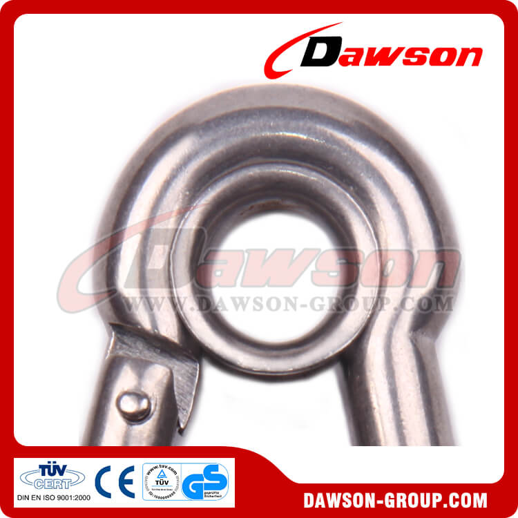 8 AISI316 304 stainless steel snap hook with eyelet and screw - Dawson Group Ltd. - China Manufacturer, Supplier, Factory, Exporter