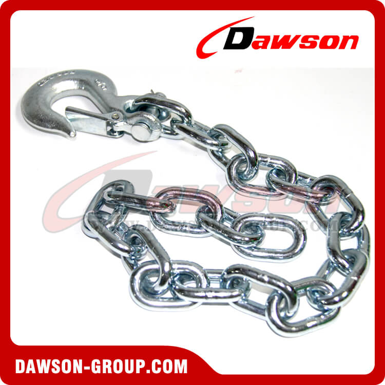 G43 Trailer Safety Chains Assembly with Slip Clevis Hook Latch - China Supplier