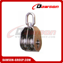 Stainless Steel Swivel Block Pully Double Sheaves