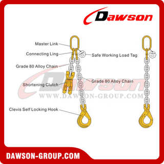 Grade 80 Single Leg Chain Sling / G80 Chain Sling for Lifting & Lashing