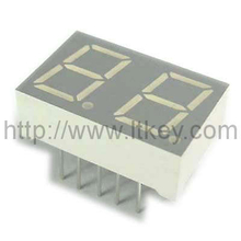 0.8 inch dual digit 7 segment Display with static circuit