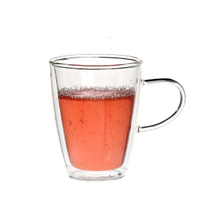 10oz double wall glass mugs
