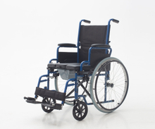 YJ-016B Foldable Wheelchair with Commode