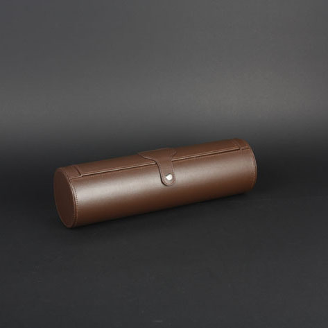 Wine Box Manufacturer Brown PU leather silicone wine bottle holder
