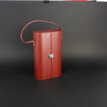 Wine Box Manufacturer Red leather 2 wine gift box