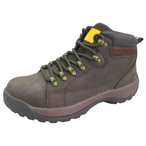 Brown Leather Oil Filed Safety Shoes Men Work