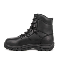 Ankle black police combat boots 6105