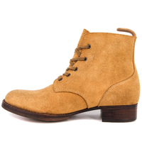 Khaki high quality military chukka leather boots 6289