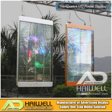 Pantalla de visualización LED transparente al aire libre flexible