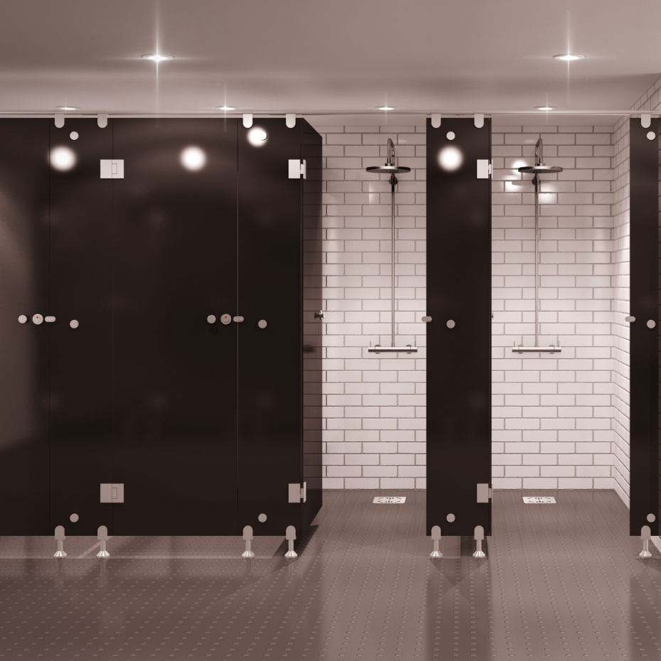 Commercial Compact Laminate Shower Cubicles - Buy Partition System ...