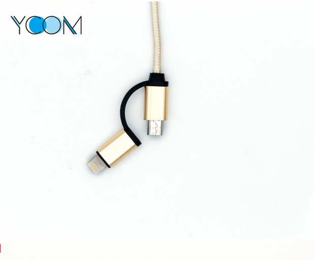 2 in 1 USB Cable for iPhone and Micro