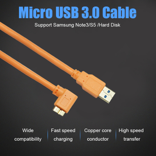 Micro USB 3.0 B Interface Data+Charging Cable 90°