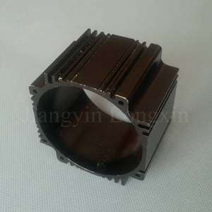 Black Anodized Aluminum Profile as Motor Shell