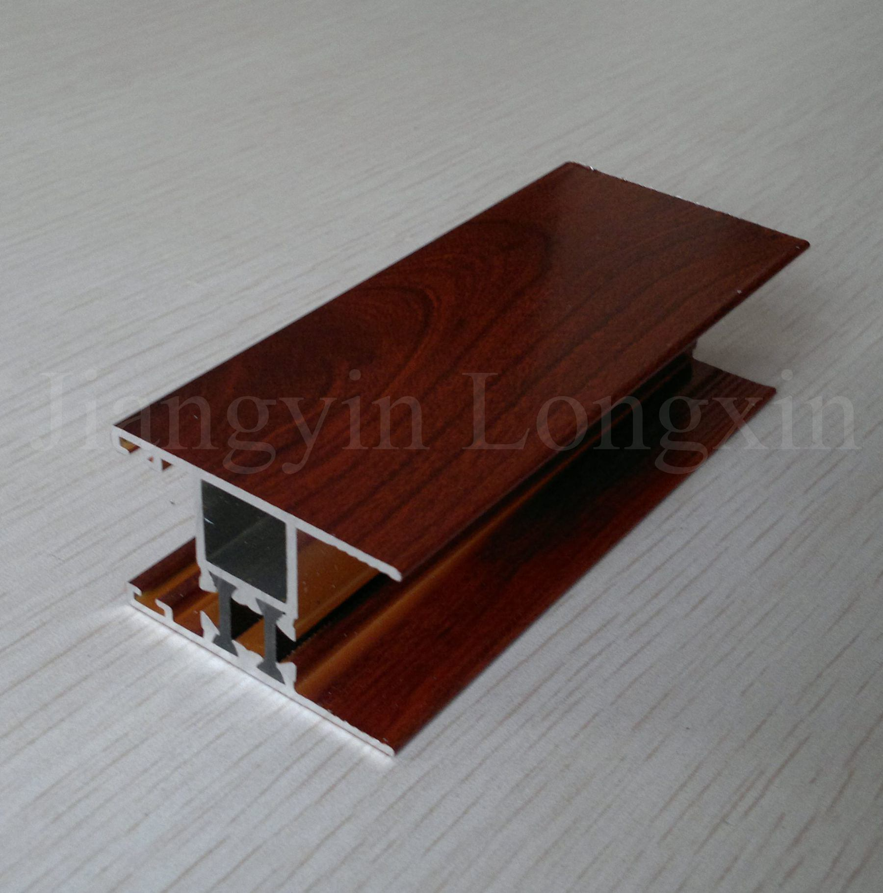 Thermal Break Aluminium Profile for Windows with Wooden Print