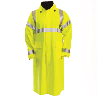 Anti Arc Flame Retardant high visibility reflective lime yellow water proof adult Raincoat for men