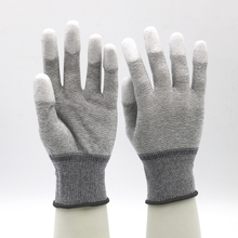Electronics Industry Knitted Wrist ESD Carbon Fiber Top Fit Work Gloves