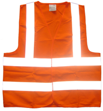 60grams cheap polyester reflective safety vest supplier in China